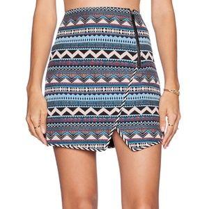 Revolve Greylin Stannis Zip Aztec Skirt